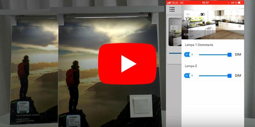 Hytronik Bluetooth-dimmer, videoguide installatör