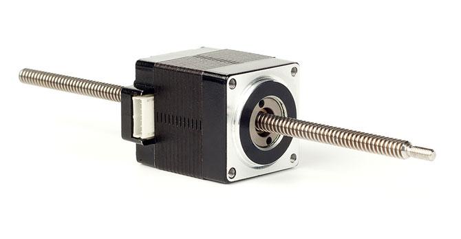 linjär stegmotor med ledarskruv